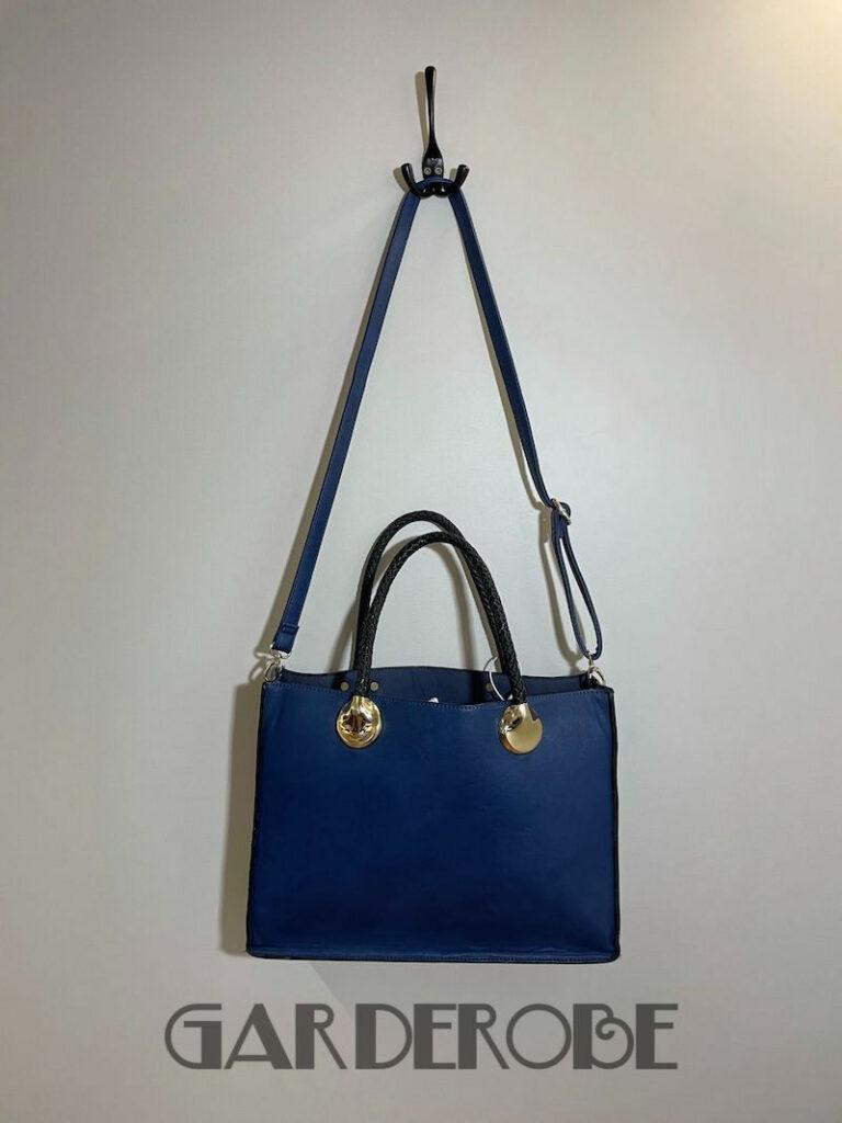Blauwe dubbele handtas