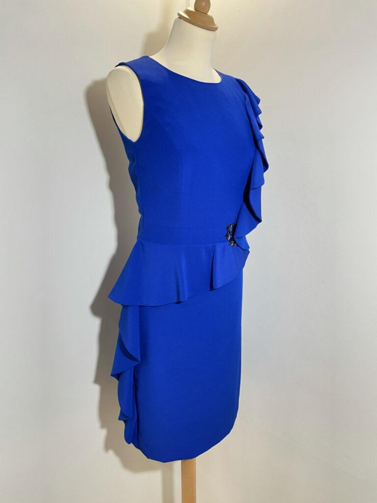 Chique hoogblauwe jurk Linea Raffaelli