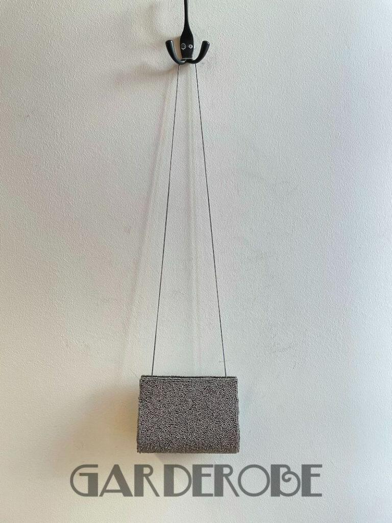 Feestelijke grijze clutch on chain