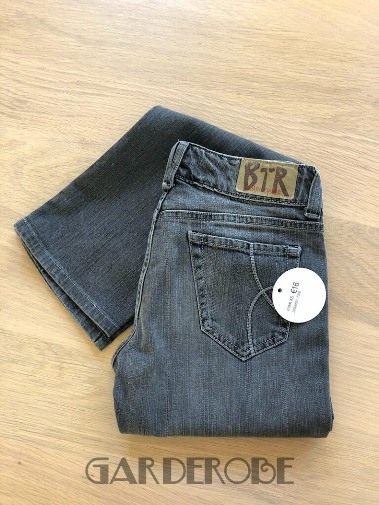Grijze rechte jeansbroek Baton Rouge (maat 26)