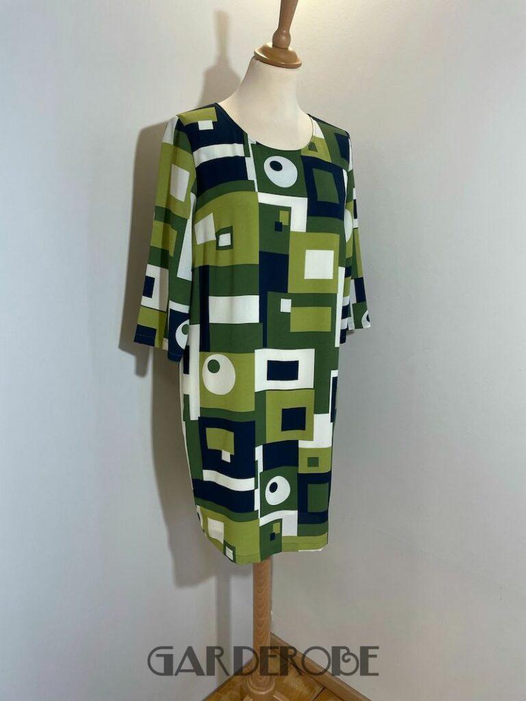 Groen jurkje met sixties print Dotts