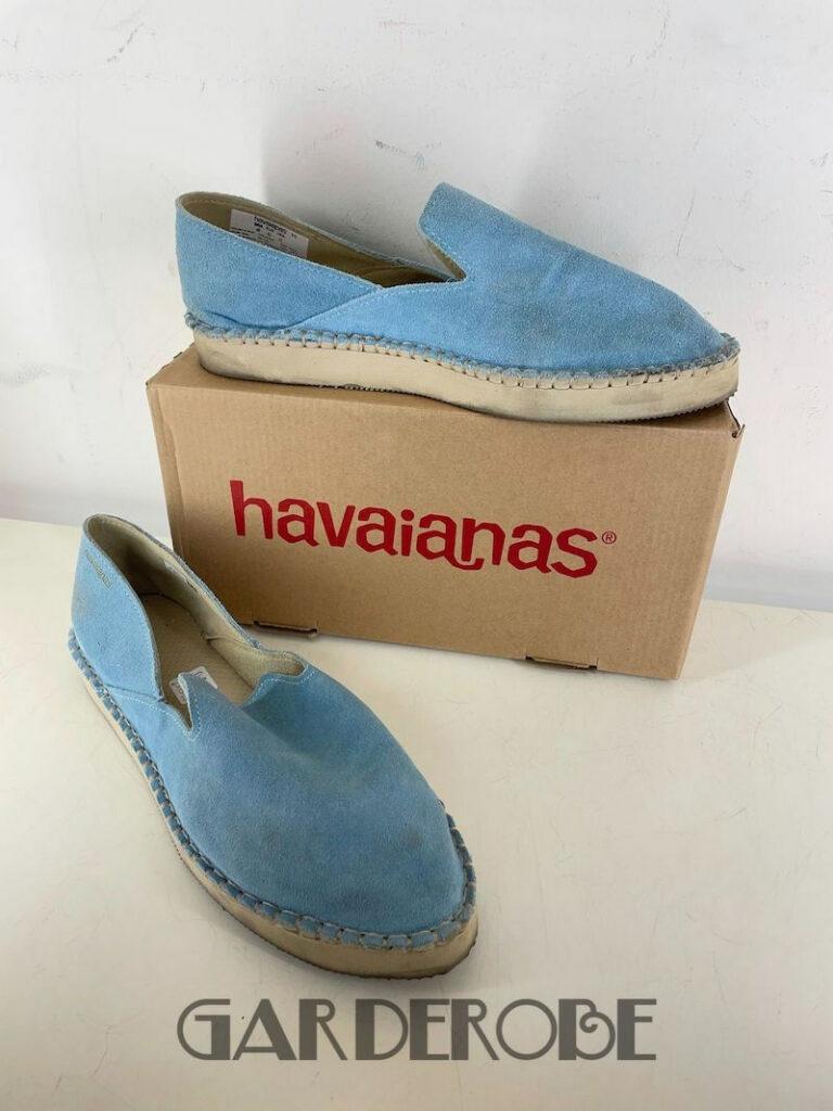Havaianas blauwe flatform loafer