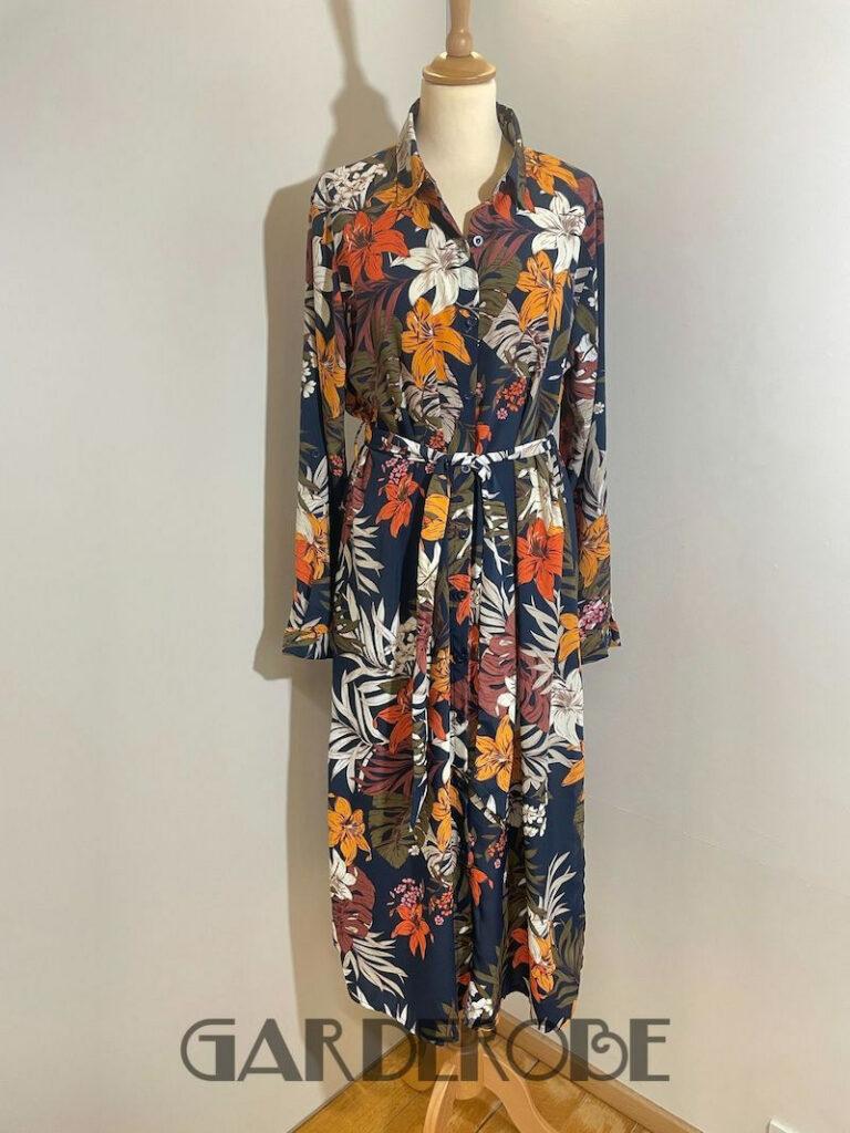 Lange gebloemde jurk Sisters Point