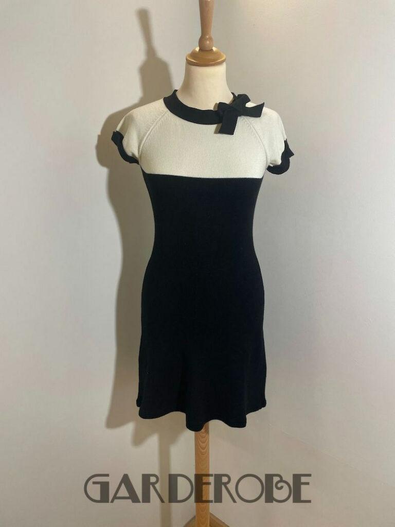Tricot zwart/wit jurkje Twin Set