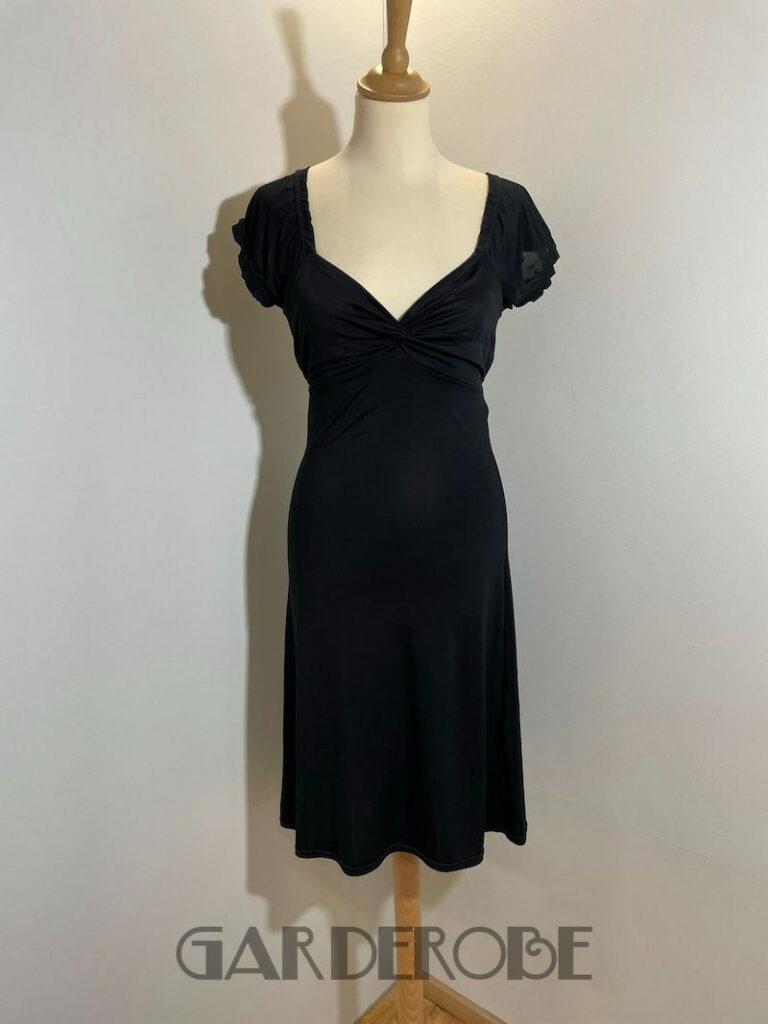 Zwart jurkje boudoir stijl