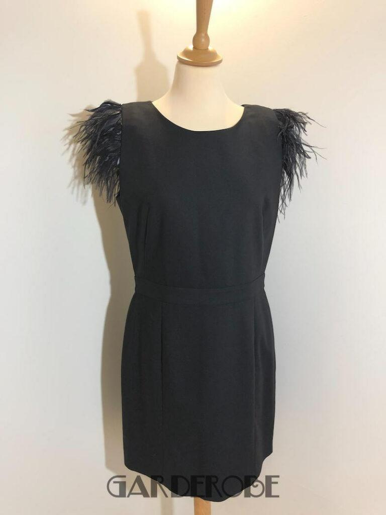 Zwart jurkje met veren Les Petites Lux
