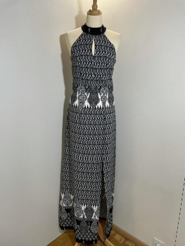 Zwart witte lange jurk Roberta Biagi